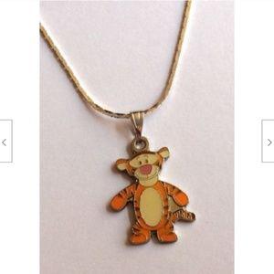 "Tigger Pooh Necklace Disney Pendant 18"" Cartoon"